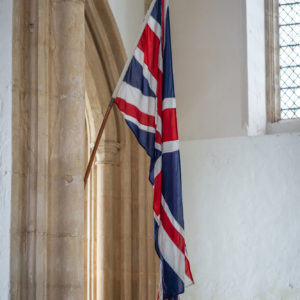 fotheringhay church union flag