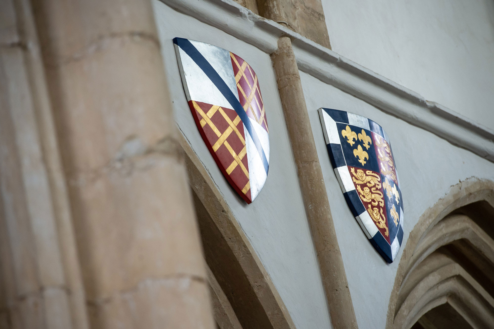 Forthinghay Church crests wall