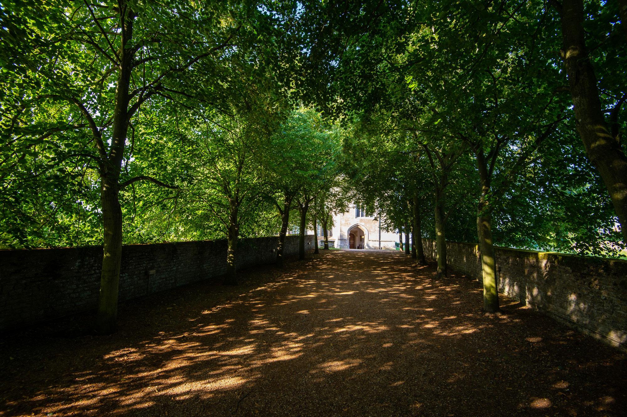 Forthinghay Church door pathway