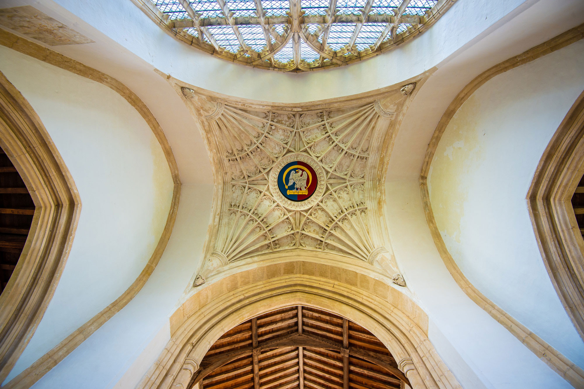 Forthinghay Church indoors ceiling 2