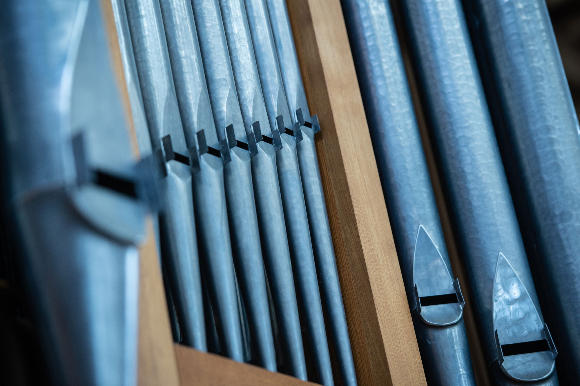 Forthinghay Church organ pipes