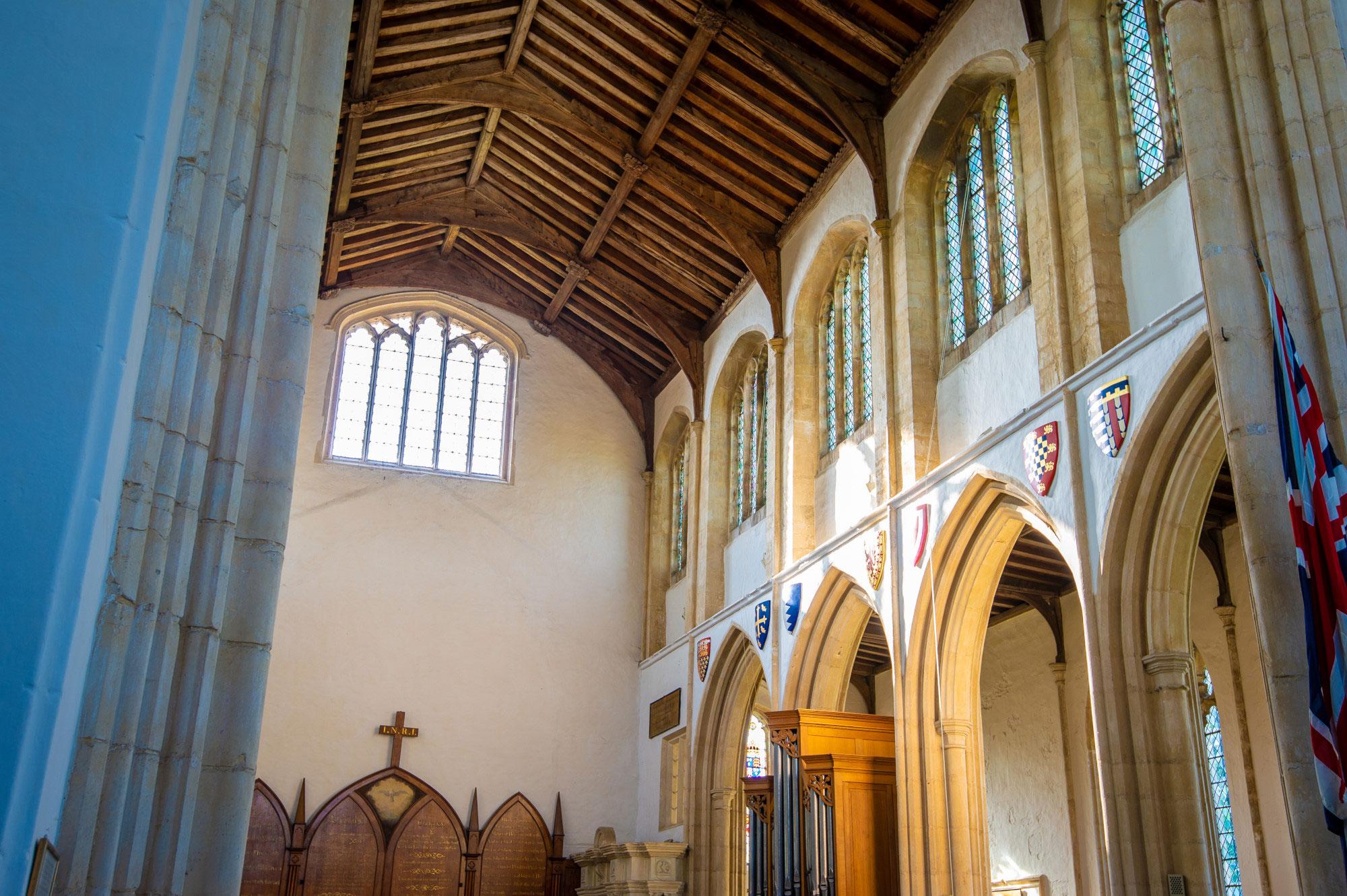 Forthinghay Church windows indoors 1
